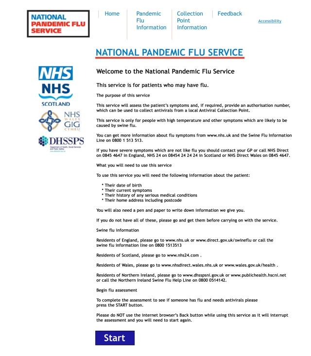 National Pandemic Flu Service Homepage