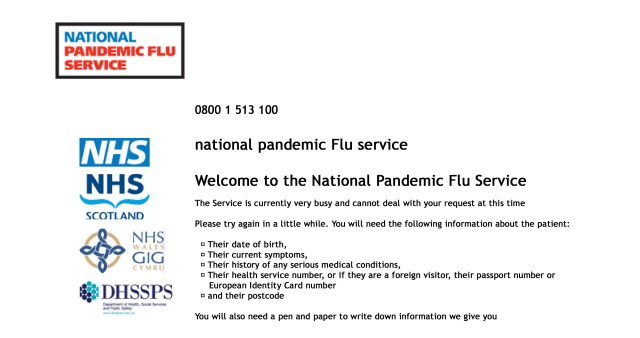 National Pandemic Flu Servi...