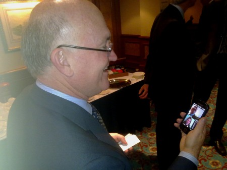 Don Jones VP Qualcomm Consulting with 3G Doctor's Dr F Kavanagh MRCGP