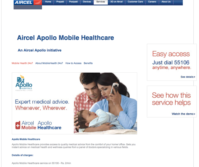 Aircel mHealth