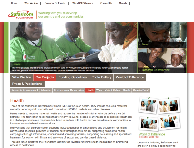 Safaricom Foundation mHealth