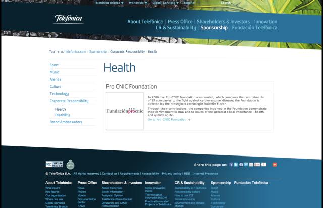 Telefonica Healthcare CSR