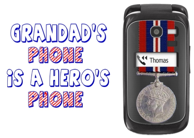 A personalised casing on a seniors mobile