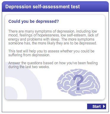 kronisk depression test