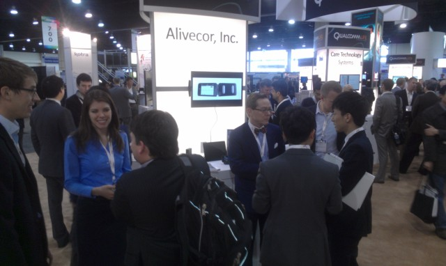 inundated Alivecor Booth at the mHealth Summit 2012