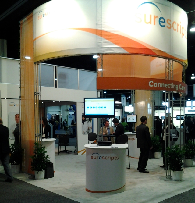 Surescript booth at the 2012 mHealth Summit