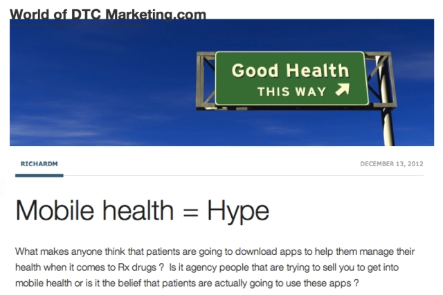 World of DTC Marketing Mobile Health equals Hype