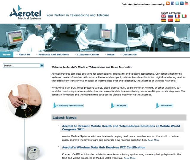 Aerotel Website
