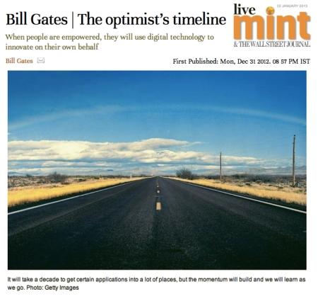 Bill Gates The Optiists Timeline