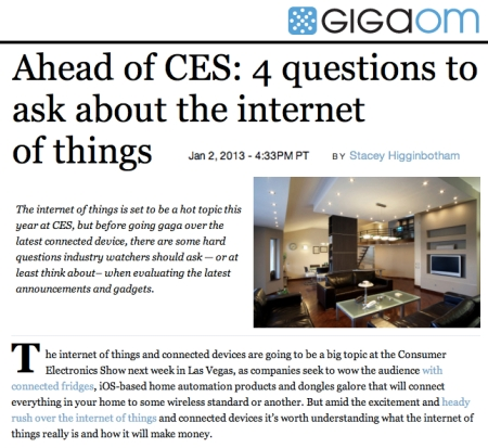 Gigaom how will the internet of things make money