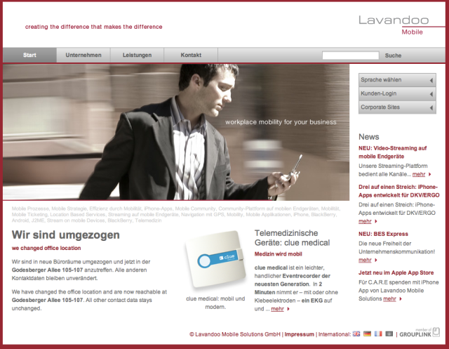 Lavandoo Mobile Website
