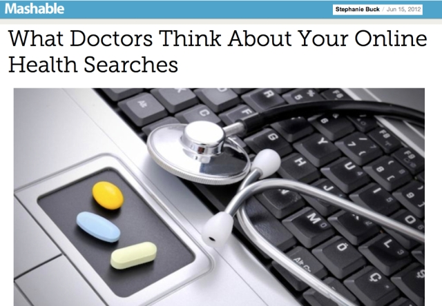 What Doctors think about your online health searches