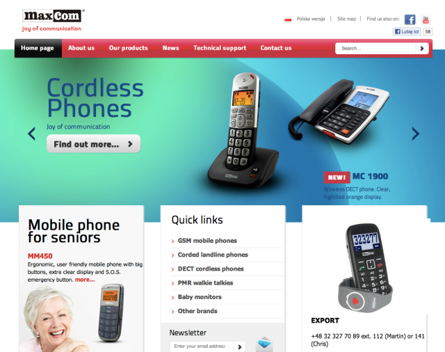 MaxCom Website