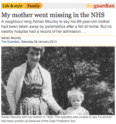 My Mother Went Missing in the NHS