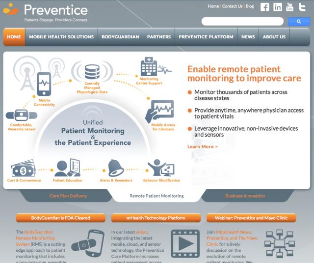 Preventice Website