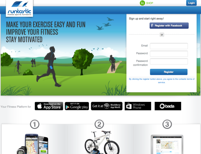 Runtastic Website