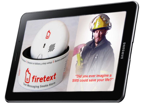 Samsung Galaxy Tab Mobile Connected Smoke Alarm Demo