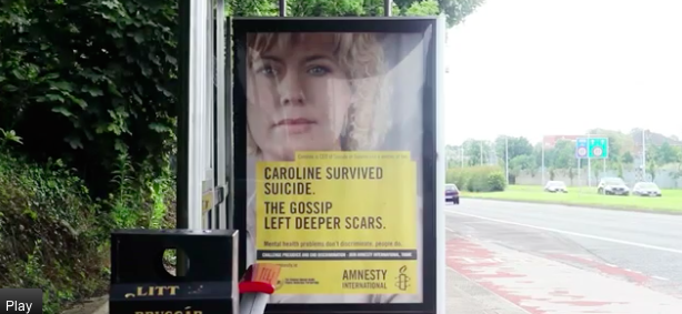Amnesty Ireland outdoor ad campaign