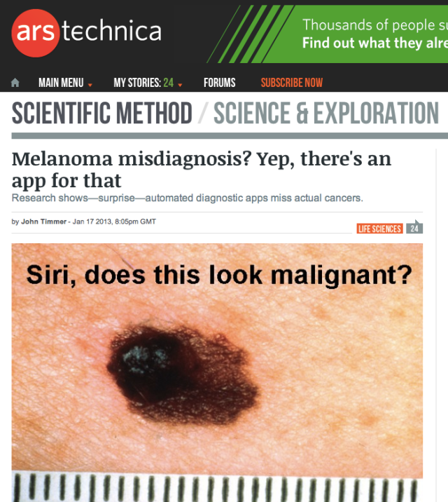arstechnica Siri does this look malignant