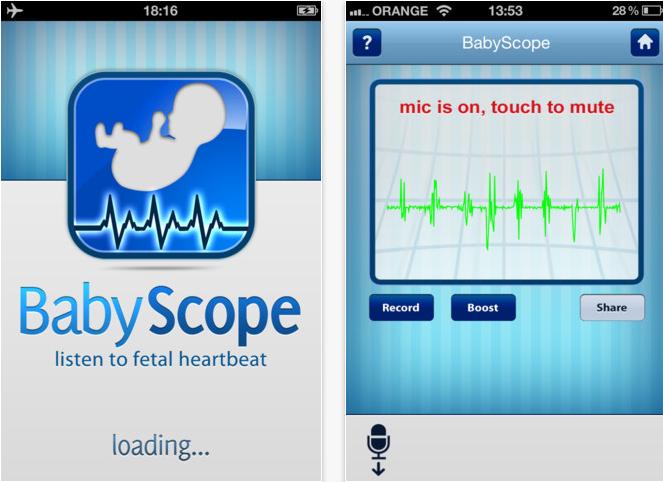 BabyScopeApp - Listen to fetal heartbeat