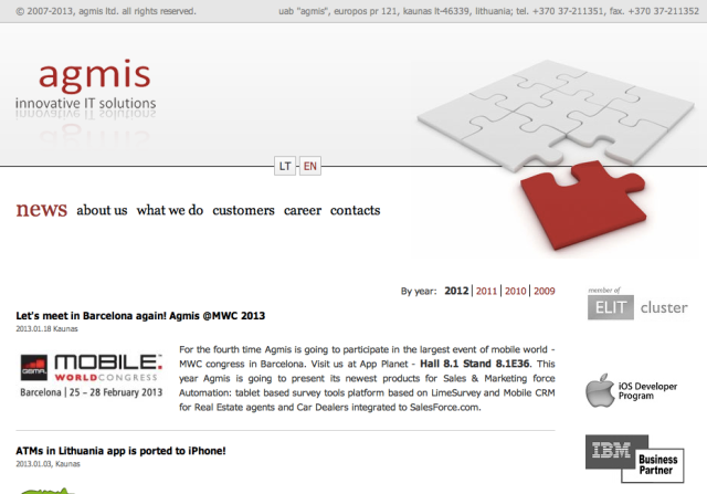 Agmis Website