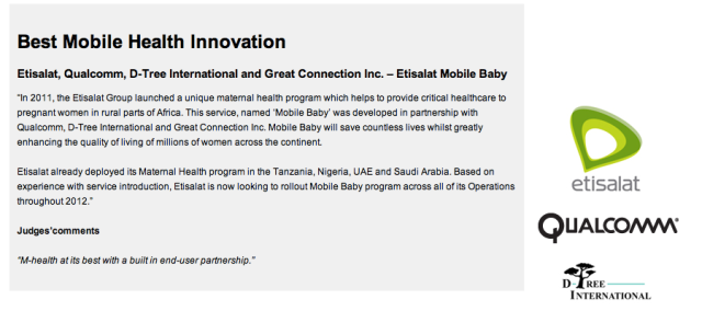 Best Mobile Health Innovation 2012