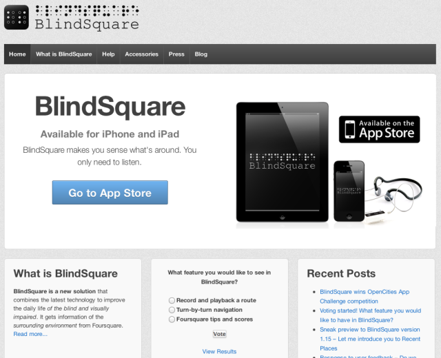 BlindSquare Website