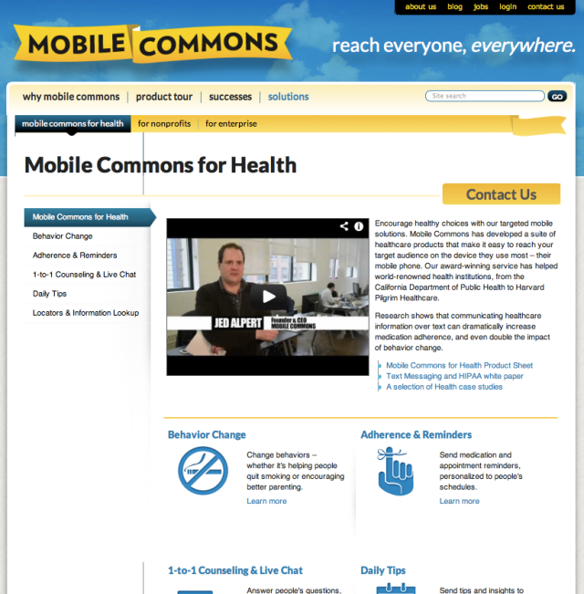 Mobile Commons for Health