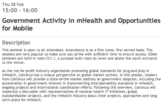 Government Activity in mHealth and Opportunities for Mobile