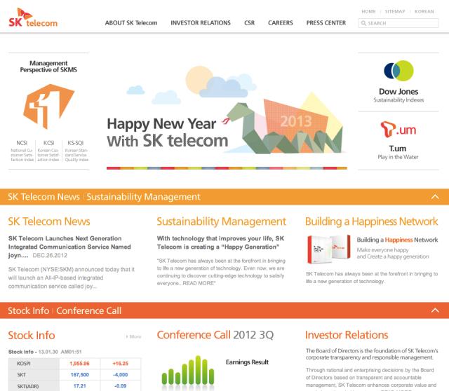 SKTelecom Website