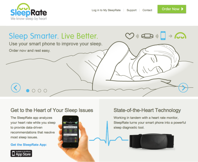 SleepRate Website