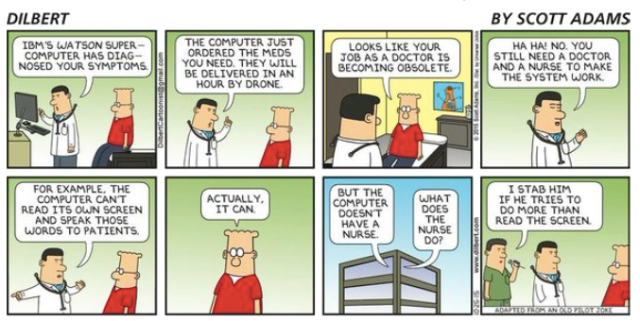 Dilbert IBM Watson will diagnose your symptoms