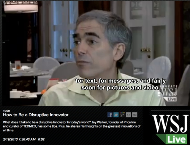 Jay Walker WSJ Live How to be a disruptive innovator
