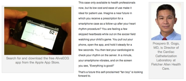 Prospero B Gogo MD reviews the Alivecor ECG Case for Apple iPhone