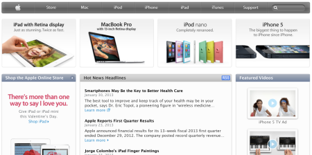 mHealth makes Hot News Headlines on Apple Homepage
