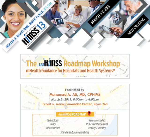 The mHIMSS Roadmap Workshop HIMSS 2013 New Orleans