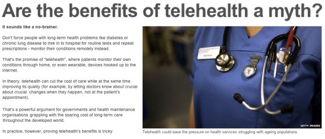 BBC News are the benefits of telehealth a myth