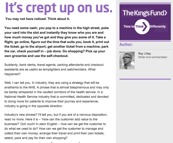 Its crept up on us Roy Lilley KingsFund Blog