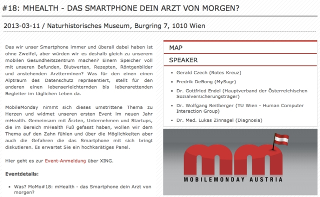 Mobile Monday Austria mHealth March 2013