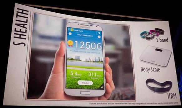 S Health via device foused message