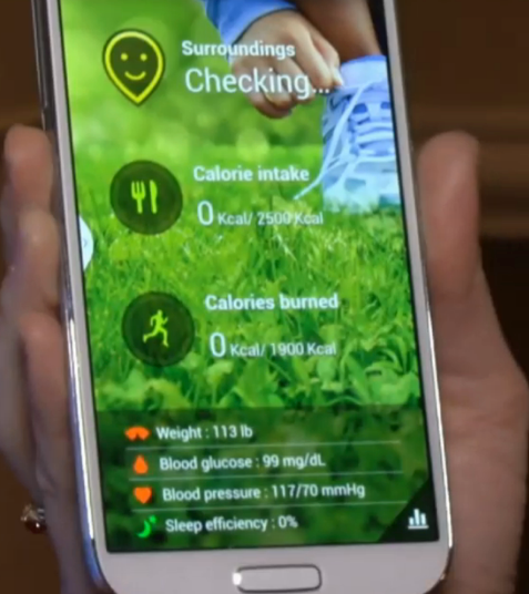 Samsung S Health Screenshot