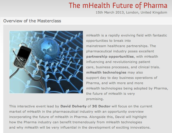 The mHealth Future of Pharma Masterclass London