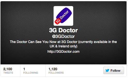 3GDoctor Twitter Account