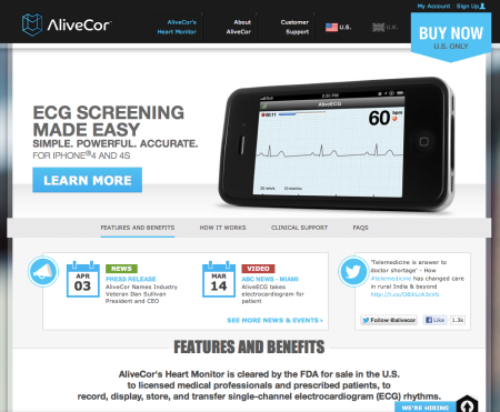 Alivecor Website