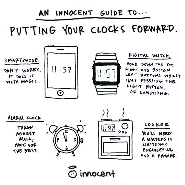 An Innocent guide to putting your clocks forward