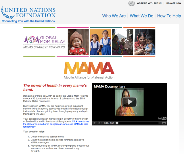 Donate online to the Mobile Alliance for Maternal Action