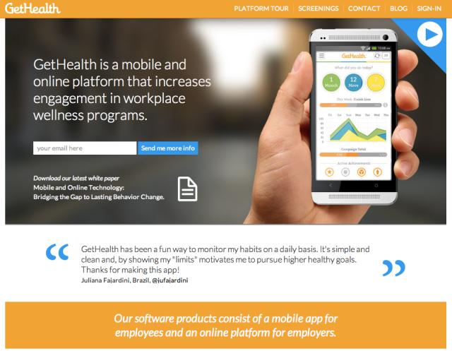 Get Health App Website