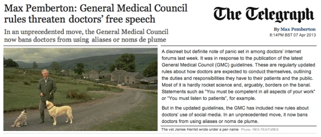 Max Pemberton GMC rules threaten Doctors free speech
