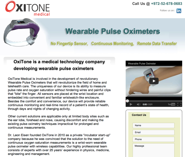 Oxitone Medical Website