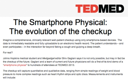 TedMed The Smartphone Checkup